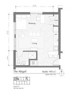 Floor plan for The Abigail