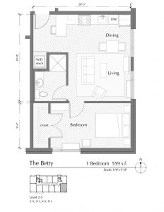 Floor plan for The Betty