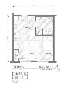 Floor plan for The Dolley