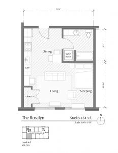 Floor plan for The Rosalyn